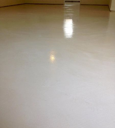 white smoothfloor with poly gloss sealer - After