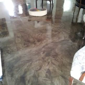 Ardex with poly gloss sealer
