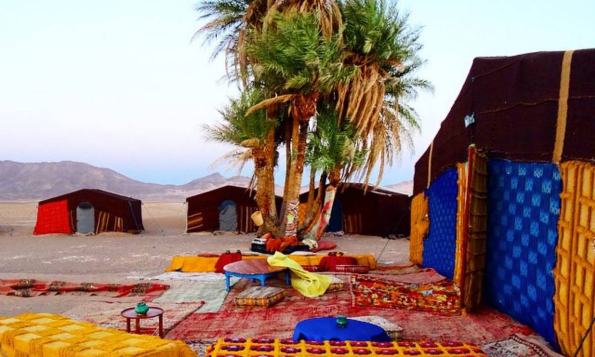 luxury desert camp in Morocco