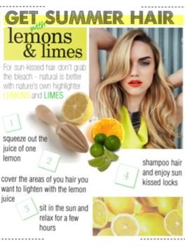 Lemon and Lime Hair Lightener
