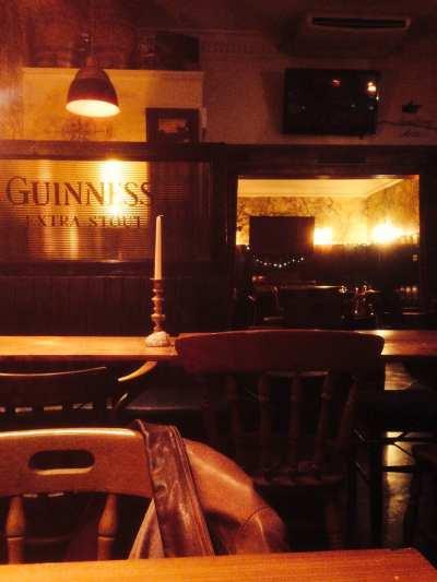 A pub, January
