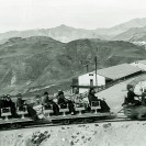 Sightseeing train leaving Ryan for the mines 1930 - Courtesy National Park Service, Death Valley National Park