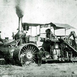 CL Best steam tractor combine. Years 1888 to 1908 - Courtesy National Park Service, Death Valley National Park