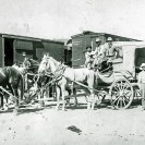 The Skiddo Ballanst Stage leaving Beatty 1909 - Courtesy National Park Service, Death Valley National Park