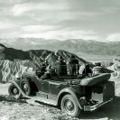 Cadillac at Zabriskie Point - Courtesy National Park Service, Death Valley National Park