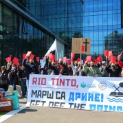 April 14, 2021, Rio Tinto's Jarad lithium development in Serbia is facing community opposition due to heritage issues. Coordinated protests were held in London, Belgrade, and Washington DC during Rio's annual general meeting. Source Kreni Promeni, Serbia.