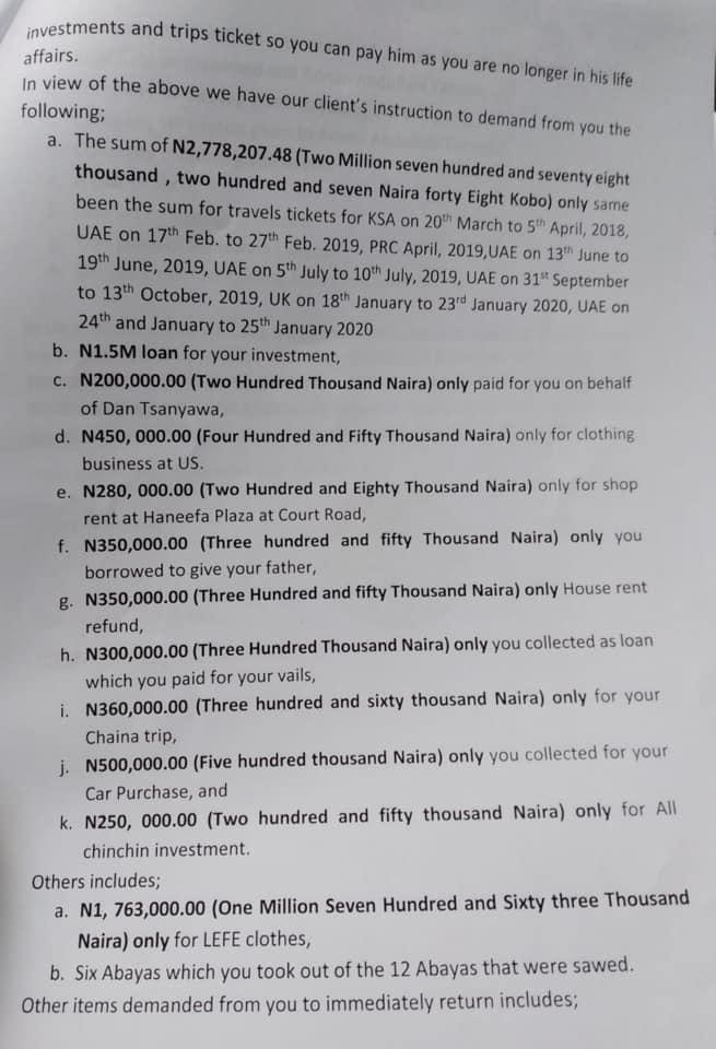 EXCLUSIVE: Ex-fiance to Col Hameed Ali's new wife threatens Court ...