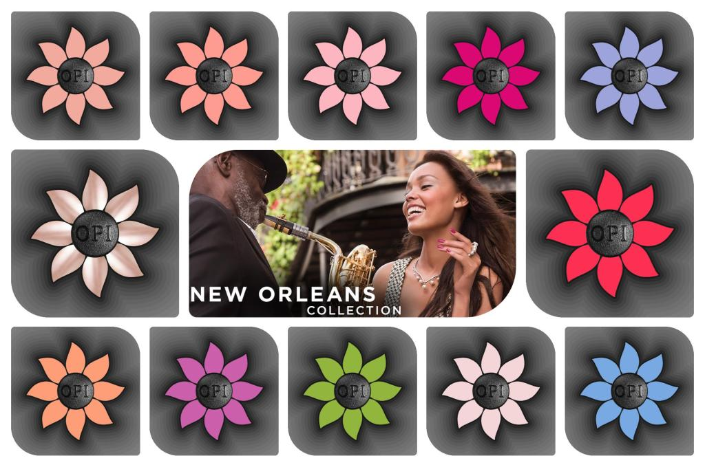 OPI New Orleans Spring / Summer 2016 Collection