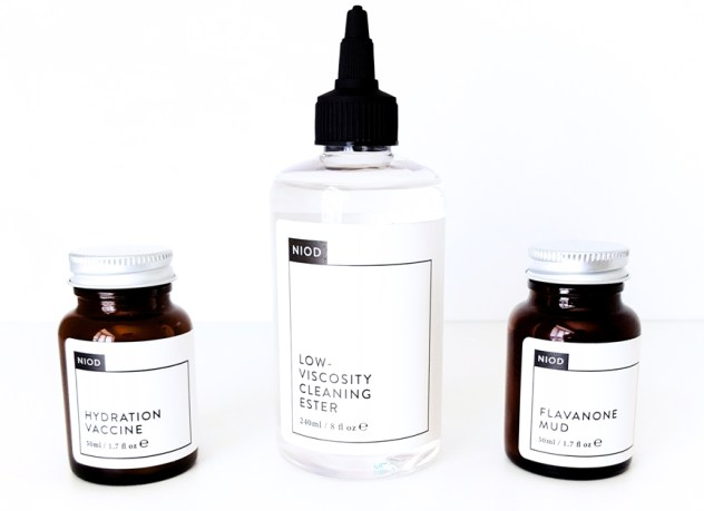 NIOD Hydration Vaccine, Low Viscosity Cleaning Ester & Flavanone Mud Trio