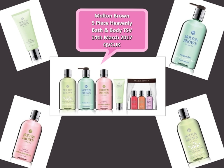 Molton Brown 5 Piece Heavenly Bath & Body TSV on QVCUK 14th March 2017