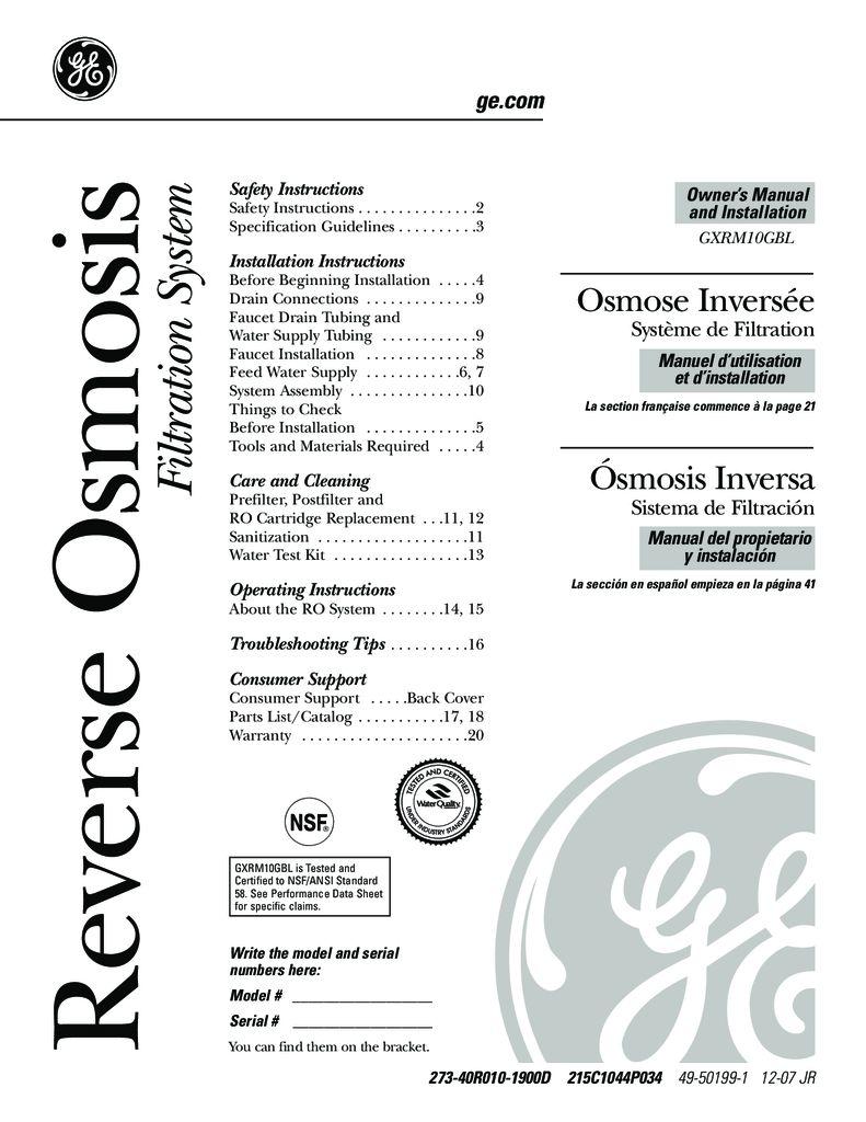 GE-GXRM10GLB-reverse-osmosis