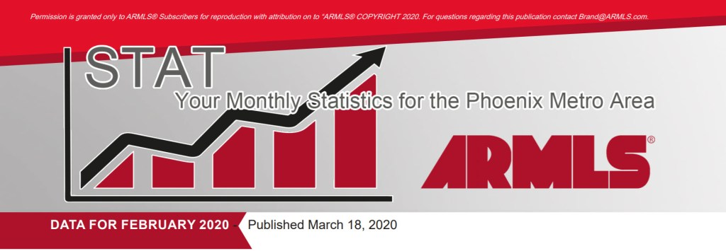 Real Estate Market Statistics March 2020 Phoenix - Hunter Clark and Nathan Mitchell, Realtors