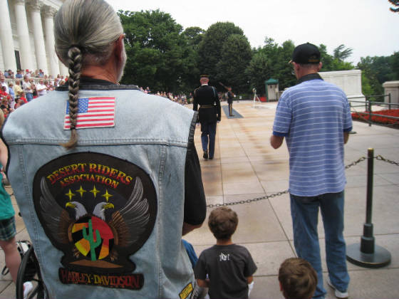 DRA Member, Gene at the Tomb of the Unknown Solider Washington DC