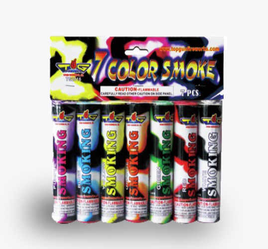 7 color smokes by top gun fireworks