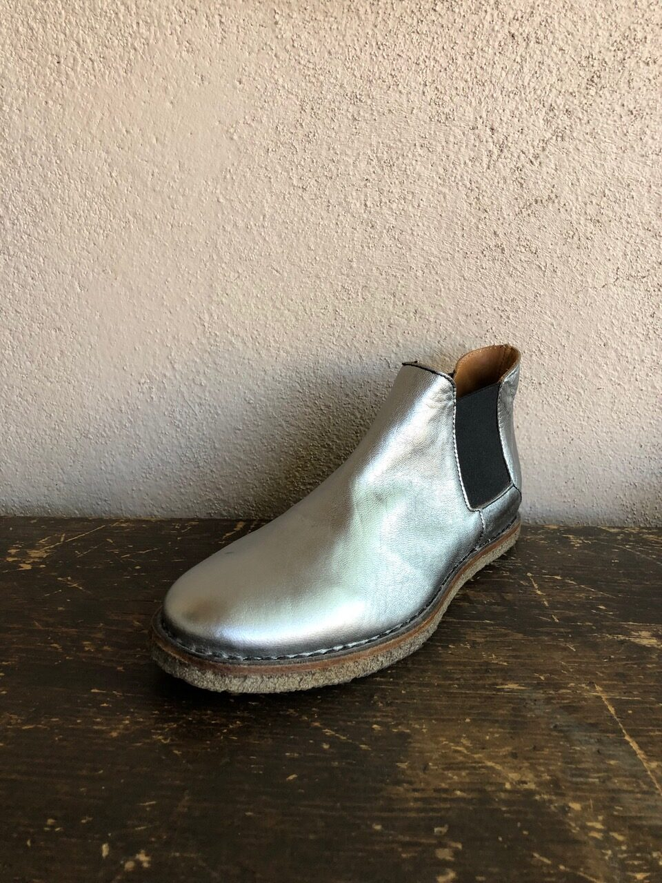 Collection Privee Silver Chelsea Ankle Boot