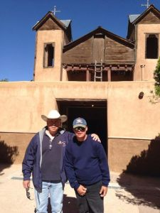 Father Brad and Erik at Chimayo