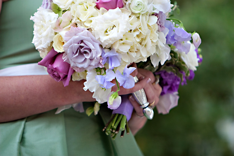 Bride's Bouquet of Roses, Hydrangea, Sweet Peas and Ranunculus