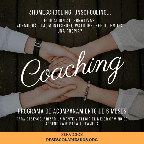 Coaching 6 meses - de aprendizaje alternativo y desescolarización