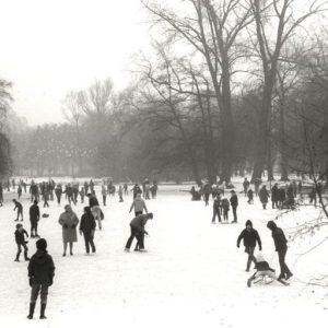 Schaatsen in een park in Utrecht