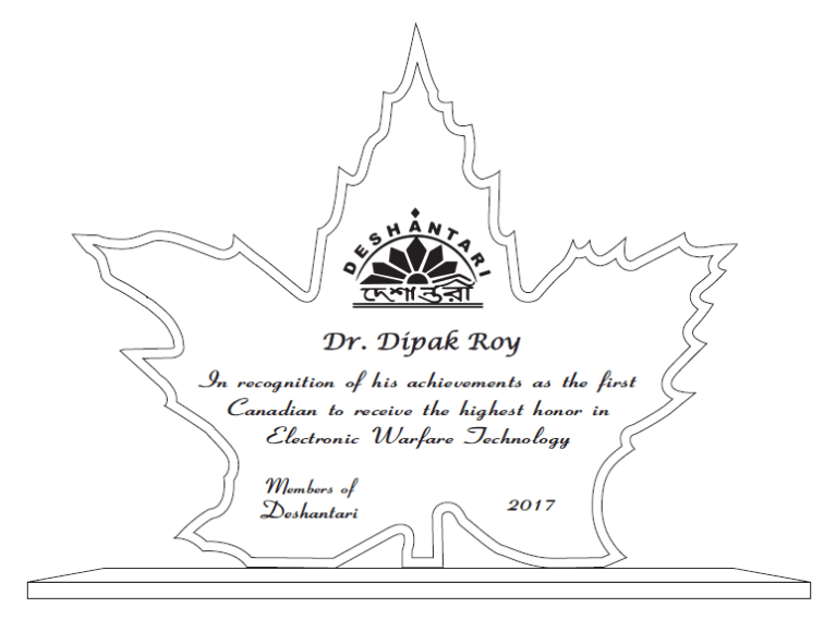 Dipak Roy wins an 'Electronic Warfare Technology Hall of