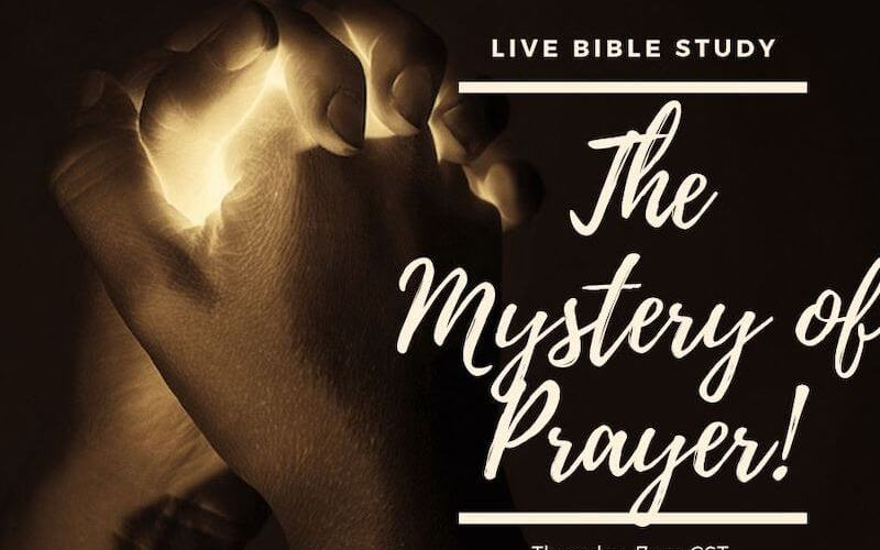 Mystery of prayer showing praying hands