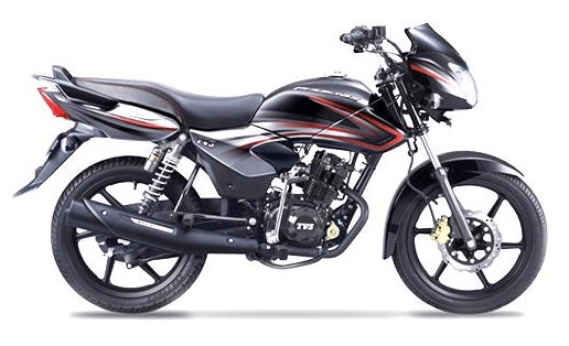 TVS Phoenix 125 Belgian Black, Red & Oxford Grey