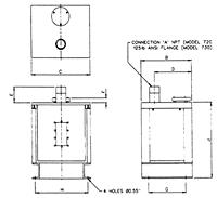 Item # 720, Floor Mounted Model 7 Series Tank Vent Dryer