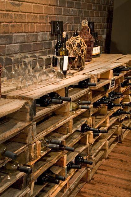Cave  vin en palettes  Des ides