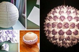 Transformez Un Luminaire Avec Des Cocottes En Papiers
