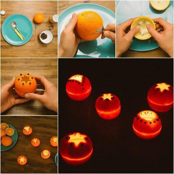Fabriquer un photophore avec une orange