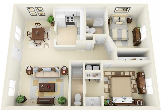 50 plans en 3D dappartements et maisons  Page 3 sur 6  Des ides
