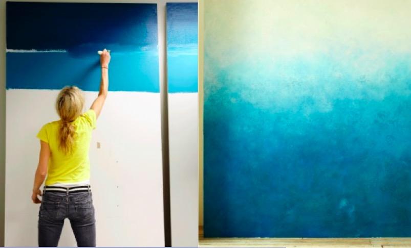 2 techniques pour obtenir un joli effet dgrad sur vos murs  Des ides