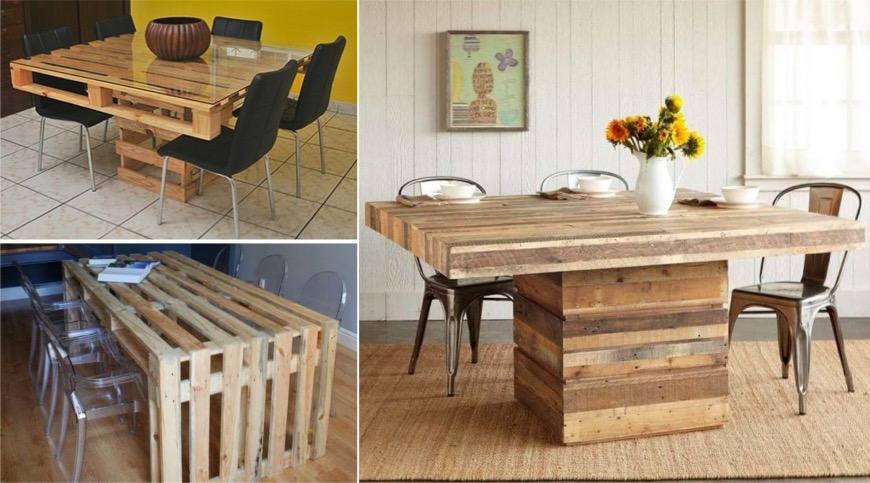 44 ides de table en palette pour votre maison  Des ides