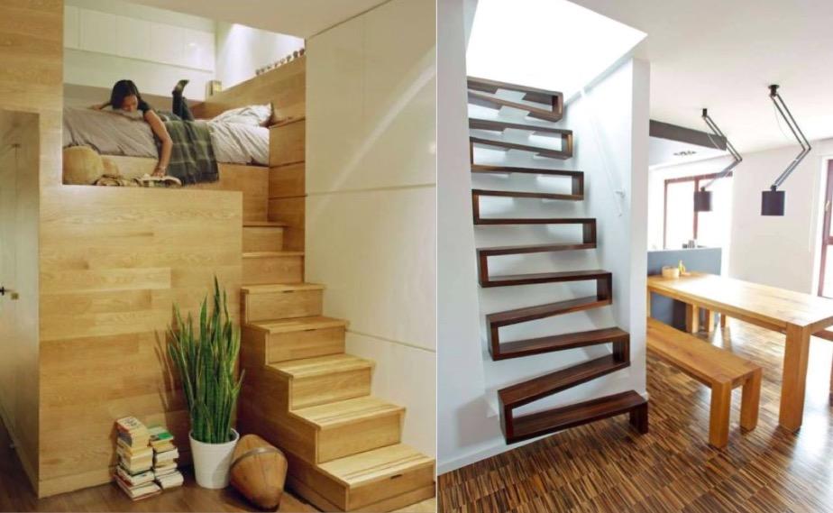 11 Escaliers Gain De Place Parfaits Pour De Petits Espaces