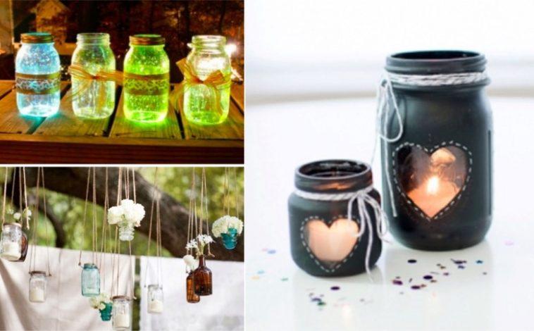 21 dcorations de mariage  faire avec des pots en verre  Des ides