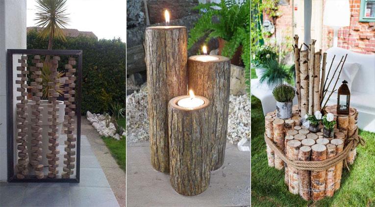 10 Meubles Et Dcorations De Jardin Faire Avec Des Rondins