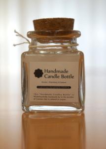 「Handmade Candle Bottle」のパッケージデザインを担当