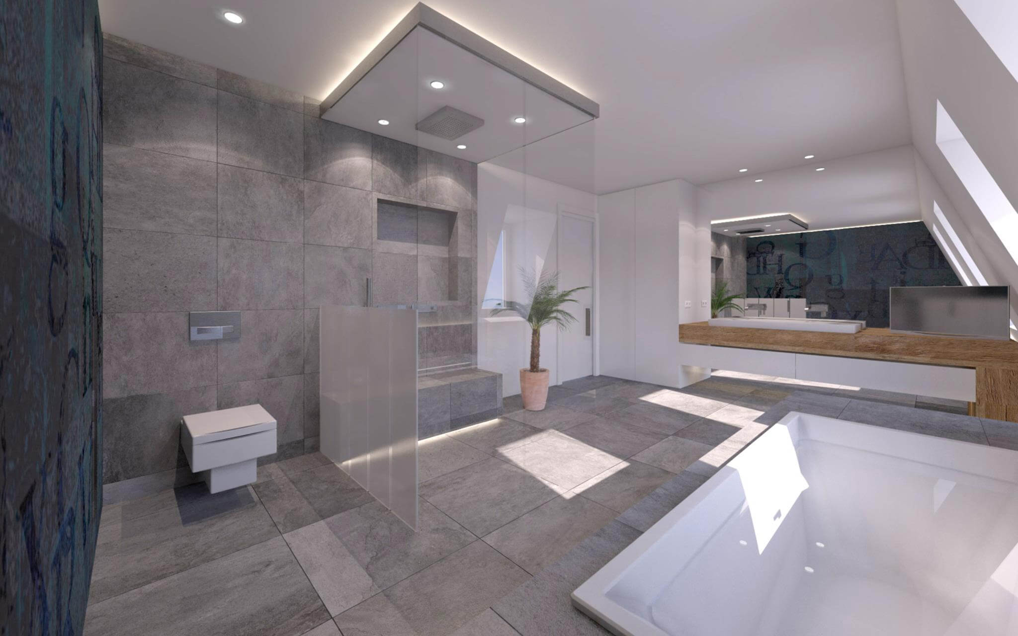 Elegant 3dminimalistische Badezimmer Designs Wohnideen Einrichten