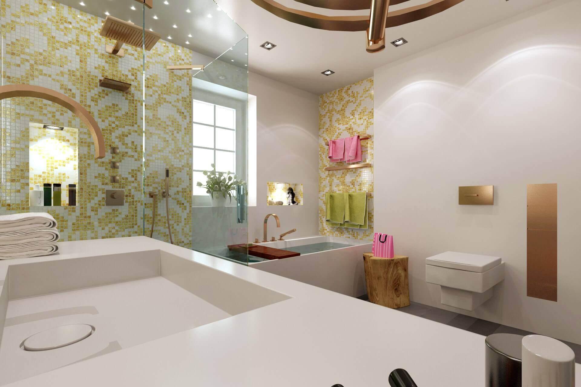 Kleines Bad Mit Badewanne Und