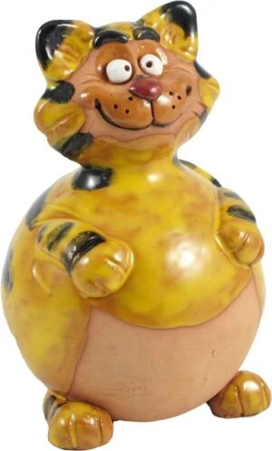 Wilma's fair trade Tuinbol Kat havefigurer katte