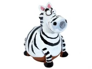 Wilma's fair trade Tuinbol Zebra havefigur