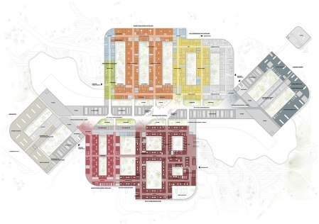 New North Zealand Hospital by C.F. Møller - Plan 0 Treatments level