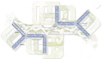 New North Zealand Hospital by C.F. Møller - Plan 3 Green Promenade level