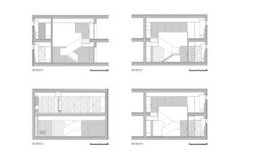 Apartamento em Braga by CORREIA/RAGAZZI ARQUITECTOS - Cross Sections