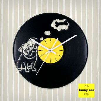 Funny Zoo Dog Vinyl Clock by ArtZavold