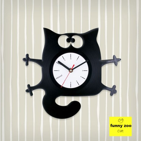 Funny Zoo Cat Vinyl Clock by ArtZavold