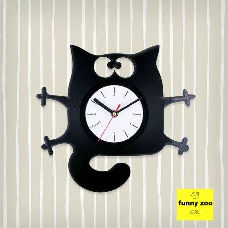 Funny Zoo Cat Vinyl Clock by ArtZavold