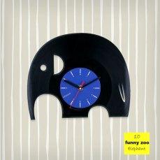 Funny Zoo Elephant Vinyl Clock by ArtZavold