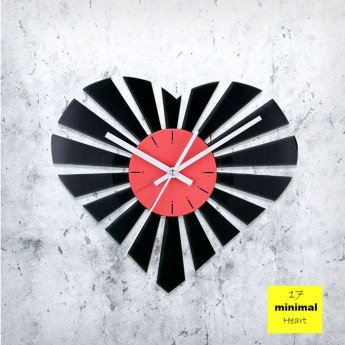 Minimal Heart Vinyl Clock by ArtZavold