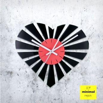 Minimal Heart Vinyl Clock by ArtZavold